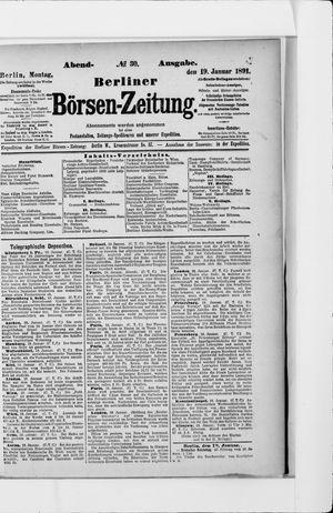 Berliner Börsen-Zeitung vom 19.01.1891