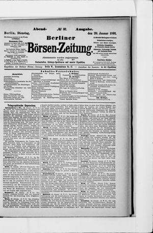 Berliner Börsen-Zeitung vom 20.01.1891