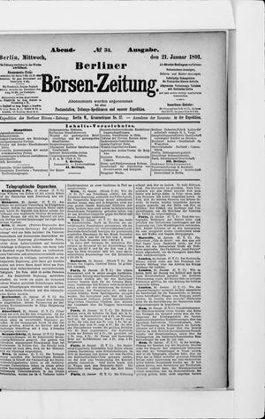 Berliner Börsen-Zeitung vom 21.01.1891