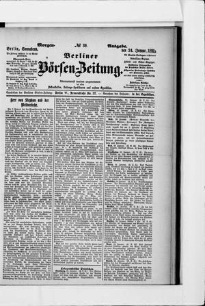 Berliner Börsen-Zeitung vom 24.01.1891