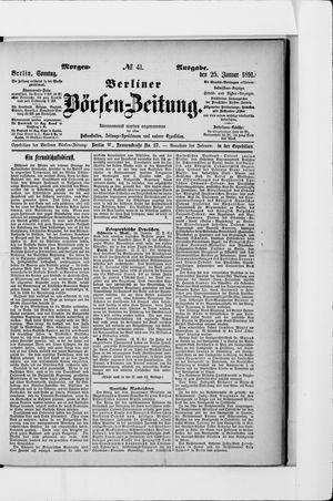 Berliner Börsen-Zeitung vom 25.01.1891