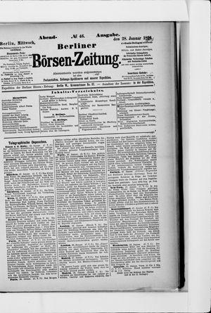 Berliner Börsen-Zeitung vom 28.01.1891