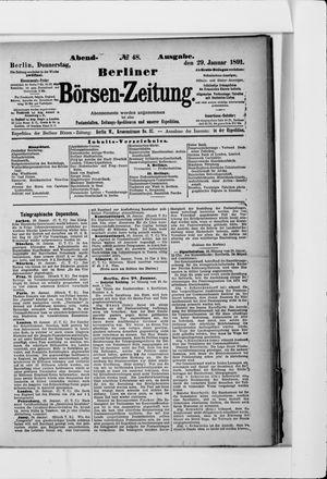 Berliner Börsen-Zeitung on Jan 29, 1891