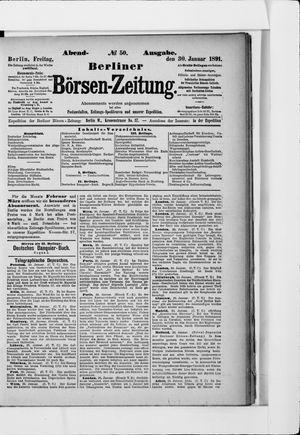 Berliner Börsen-Zeitung vom 30.01.1891