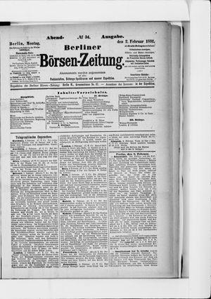 Berliner Börsen-Zeitung vom 02.02.1891