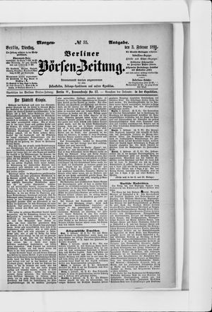 Berliner Börsen-Zeitung vom 03.02.1891
