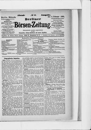 Berliner Börsen-Zeitung vom 04.02.1891