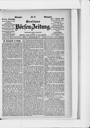 Berliner Börsen-Zeitung vom 05.02.1891