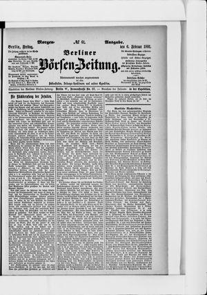 Berliner Börsen-Zeitung vom 06.02.1891