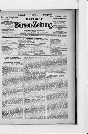 Berliner Börsen-Zeitung vom 07.02.1891