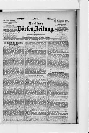 Berliner Börsen-Zeitung vom 08.02.1891