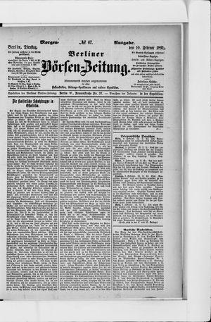 Berliner Börsen-Zeitung vom 10.02.1891