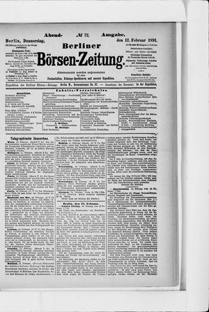 Berliner Börsen-Zeitung vom 12.02.1891