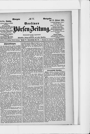Berliner Börsen-Zeitung vom 15.02.1891