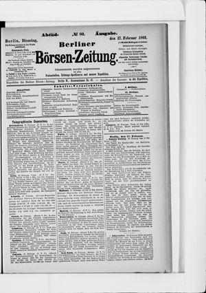 Berliner Börsen-Zeitung vom 17.02.1891