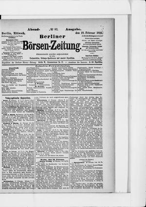 Berliner Börsen-Zeitung vom 18.02.1891