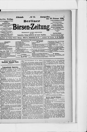 Berliner Börsen-Zeitung vom 20.02.1891