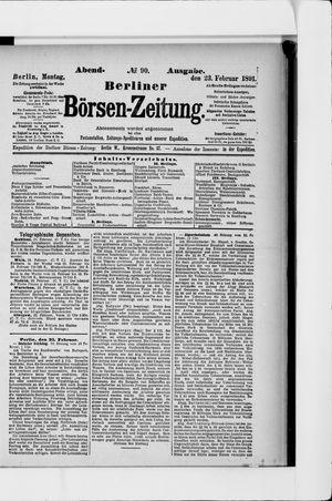 Berliner Börsen-Zeitung vom 23.02.1891
