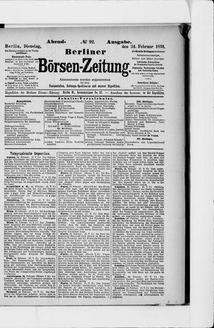Berliner Börsen-Zeitung vom 24.02.1891
