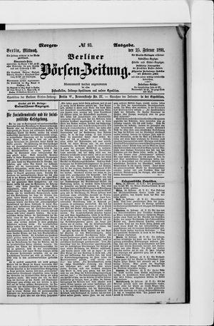 Berliner Börsen-Zeitung vom 25.02.1891