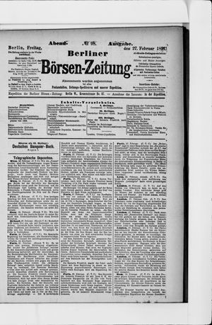 Berliner Börsen-Zeitung vom 27.02.1891