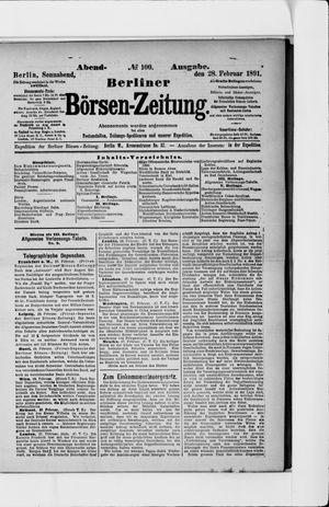 Berliner Börsen-Zeitung vom 28.02.1891
