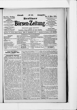 Berliner Börsen-Zeitung vom 06.03.1891