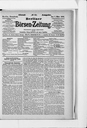 Berliner Börsen-Zeitung vom 07.03.1891
