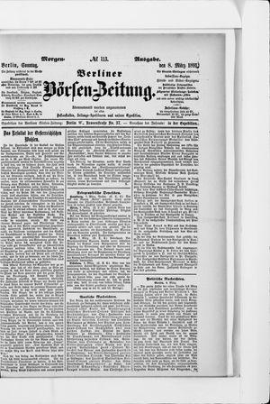 Berliner Börsen-Zeitung vom 08.03.1891