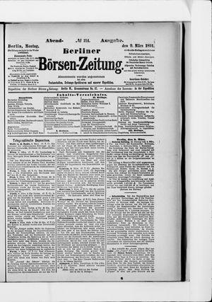 Berliner Börsen-Zeitung vom 09.03.1891