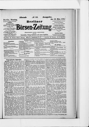 Berliner Börsen-Zeitung vom 10.03.1891