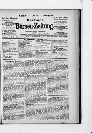 Berliner Börsen-Zeitung vom 11.03.1891