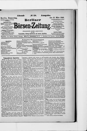 Berliner Börsen-Zeitung vom 12.03.1891