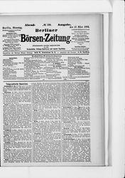 Berliner Börsenzeitung (17.03.1891)