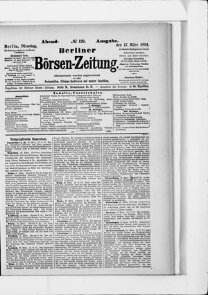 Berliner Börsen-Zeitung vom 17.03.1891