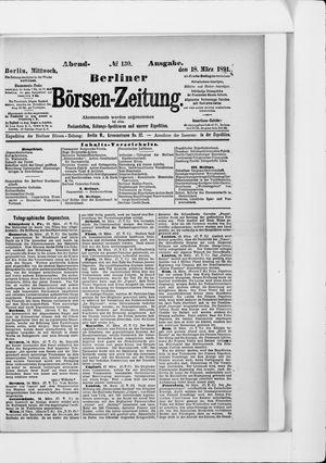 Berliner Börsen-Zeitung vom 18.03.1891