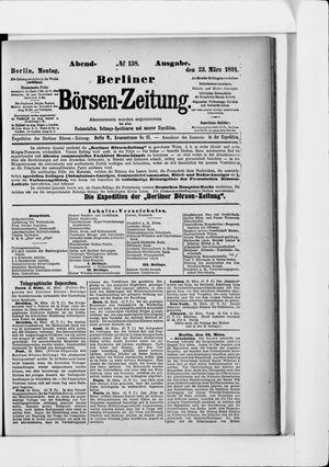 Berliner Börsen-Zeitung vom 23.03.1891
