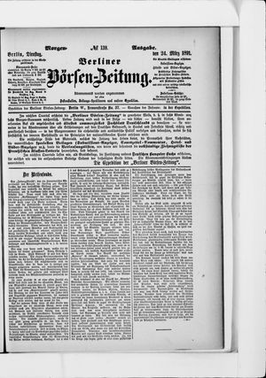 Berliner Börsen-Zeitung vom 24.03.1891