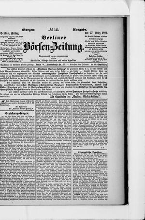 Berliner Börsen-Zeitung vom 27.03.1891