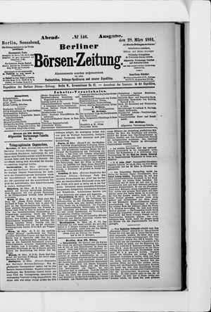 Berliner Börsen-Zeitung vom 28.03.1891