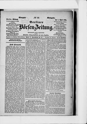 Berliner Börsen-Zeitung vom 01.04.1891