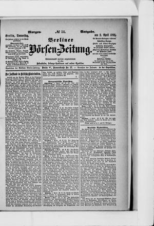 Berliner Börsen-Zeitung vom 02.04.1891