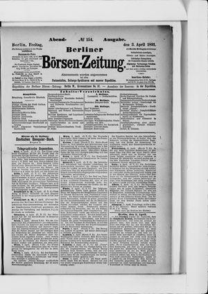 Berliner Börsen-Zeitung vom 03.04.1891