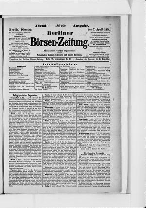 Berliner Börsen-Zeitung on Apr 7, 1891