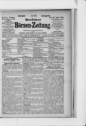 Berliner Börsen-Zeitung vom 10.04.1891