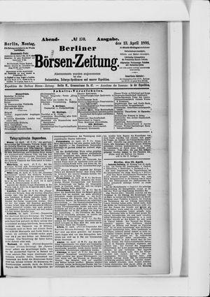 Berliner Börsen-Zeitung vom 13.04.1891