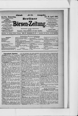 Berliner Börsen-Zeitung on Apr 16, 1891
