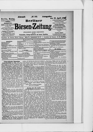 Berliner Börsen-Zeitung vom 20.04.1891