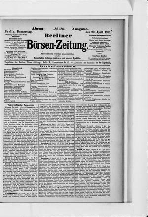 Berliner Börsen-Zeitung vom 23.04.1891