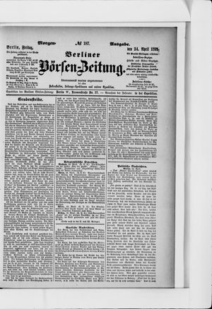 Berliner Börsen-Zeitung vom 24.04.1891